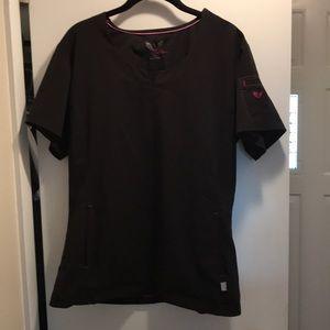 Smitten brand black women's scrub top Size-L